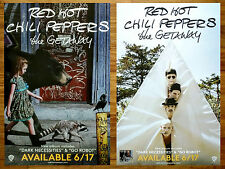 RED HOT CHILI PEPPERS The Getaway 2016 Ltd Ed RARE New Large 2 Posters Lot! RCHP