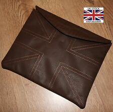 UNION JACK Brown LEATHER Effect iPad 2 3 4 Case Cover Retro Gift Present
