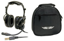 ASA AirClassics Headset HS-1A and ASA Single Headset Bag ASA-BAG-HS-1 Combo