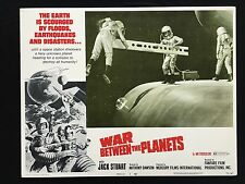WAR BETWEEN THE PLANETS Sci Fi 1971 Original Lobby Card MST3K Cult Space Epic 1