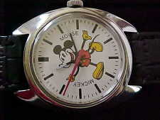 Sharp Mint Big Mickey Mouse Vintage 17 Jewel Seiko Stainless Screwback Case
