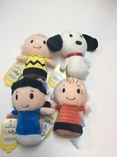 Peanuts Hallmark Itty Bitty's Charlie Brown Snoopy Lucy Linus ~Nwt - Plush