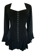 NWT WOMENS PLUS SIZE CLOTHING CORSETTA TOP IN BLACK 1X