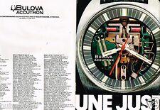 Publicité advertising 1970 (2 pages) La Montre Bulova Accutron