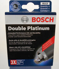 Lot / Box of 4  Spark Plugs Fine Wire Double Platinum BOSCH 8112