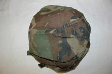 Original US MIlitary Issue US Army Kevlar Combat Helmet Cover Woodland Large 10