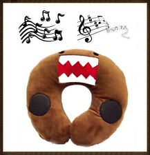 MUSIC & SOUND DOMO KUN U SHAPED MP3 MP4 IPHONE TRAVEL NECK SOFT PLUSH PILLOW