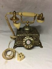 Vintage Rotary Dial Telephone Victorian French Style Princess Desk Phone