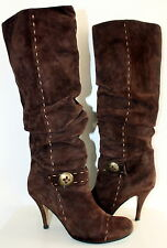 Unknown label suede knee-high boots women Eur 39 US-Aus 8 UK 6 Used from Italy