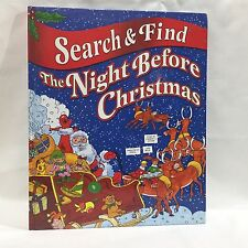Search & Find The Night Before Christmas Clement Moore Over Sized HC Free Ship