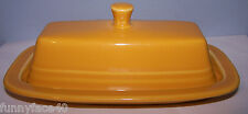 NEW FIESTAWARE MARIGOLD COVERED BUTTER DISH FIESTA RETIRED