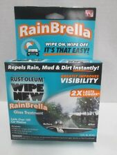 Wipe New Rust-oleum RainBrella Glass Treatment AS SEEN ON TV! BRAND NEW!