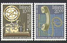 Iceland 1986 Telegraph/Telephones/Communications/Telecomms 2v set (n34504)