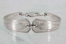 A1 PLUS COIN SILVER SPOON BRACELET STERLING CLASP BRACELET FASHION 3520