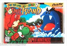 Super Mario World 2: Yoshi's World FRIDGE MAGNET (2.5 x 3.5 inches) video game