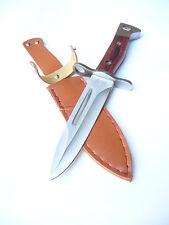 "АК 47 AK Bayonet Style Knife, Scabbard, 5,7"" Blade, Wood, NEW !"