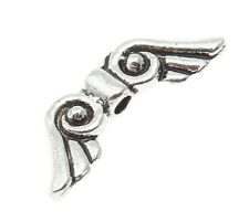100 Silver Angel Wings 15mm Spacer Beads For Jewellery Making BUY 3 FOR 2