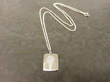 MINI Argento Sterling Medical Alert TAG COLLANA. SOS, il diabete, allergie ecc.