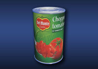 1:12 Scale Chopped Tomatoes Tin Dolls House Miniature Food Cans