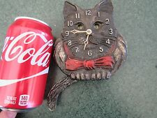 ORIGINAL c1933 PAUL LUX CAT WITH MOVING TAIL AND EYES CLOCK  ART DECO RUNS GREAT