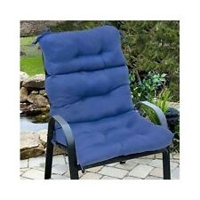 2 High Back Chair Seat Cushions Pillow Pad Indoor Outdoor Patio Garden Furniture