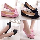 New Lady Casual Bownot Ballet Flats Ballerina Slip On Loafers Shoes Flats