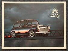 MINI THIRTY LIMITED EDITION Car Sales Brochure 1989 #EO693 ITALIAN TEXT