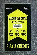 IGT S2000 2 Coin Slant Top Slot Machine Bill Validator Side Glass for TITO