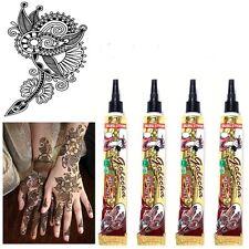 4x Henna Paste Tube Golecha Kastanienbraun 100g Klinisch getestet Mehndi Indien