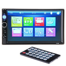 Nue 7'' HD Bluetooth Touch Screen Car Stereo Autoradio 2DIN MP3/MP5 Spieler AUX