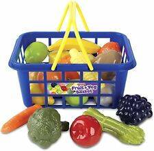 Casdon Toy Fruit & Veg Vegetable Plastic Shopping Basket Grocery Pretend Food UK
