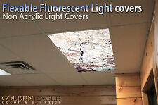 Flexible Fluorescent Light Cover Films Skylight Ceiling Office Medical Dental 30