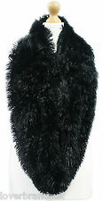 NEW WOMEN LADIES TIPPET SOFT CHUNKY FLUFFY FUR DOUBLE LOOP SNOOD SCARF STOLE