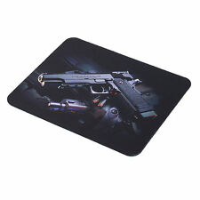 Gun Picture Anti-Slip Laptop PC Mice Pad Mat Mousepad For Optical Laser Mouse FE