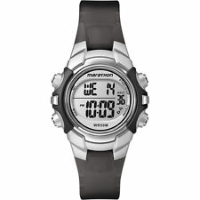 Timex T5K805, Women's Marathon Black Resin Watch, Indiglo, Alarm, T5K805M6