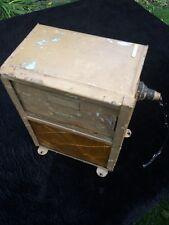 Vintage 1930's DARKROOM SAFELIGHT.  Metal light box with sliding shutters. 1.5Kg