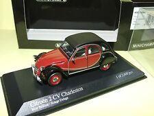 CITROEN 2CV CHARLESTON 1980 Rouge & Noir MINICHAMPS 1:43