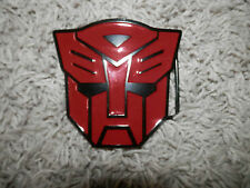red Metal  Transformers Autobot Themed Men's Belt Buckle