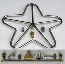 """18"""" Stainless Steel Penta Fire Pit Ring Burner with Connector Kit for LP Propane"""