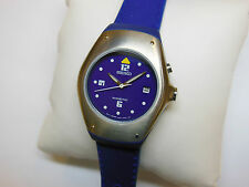 Rare Seiko Kinetic Sample Watch Ladies SWP313 3M22-0D89 Blue Silicon Non-Working