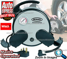 Ring RAC750 Mains Powered Home Rapid Car Van Tyre Inflator Air Compressor Pump