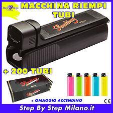 SMOKING Macchinetta Riempi Tubi + 200 tubetti Tubi con filtro SIGARETTE VUOTE