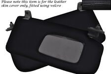 BLACK STITCH 2X SUN VISORS LEATHER COVERS FITS SUBARU IMPREZA WRX STI 05-07