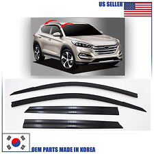 SMOKED DOOR WINDOW VENT VISOR DEFLEKTOR (D053) HYUNDAI TUCSON 2016-2017