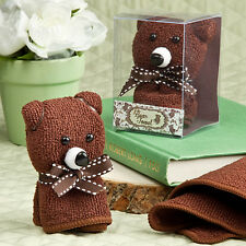Adorable Brown Bear Hand Towel Cute Baby Shower Favor