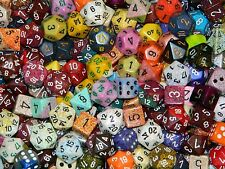 1/4 Pound Of Chessex Polyhedral Dice w/ Full Set of Wiz Dice in Bag D&D RPG Lot