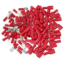 50 Male + 50 Female Assorted Electrical Wire Terminals Connectors Crimp Spade