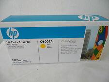 New Genuine HP Q6002A Yellow Toner Cartridge Laserjet 1600 2600 2605