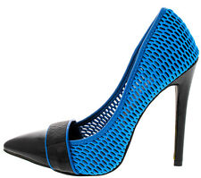 High Heel Pointed Toe 4.8 in Stiletto Redkiss Blue Shoe US11