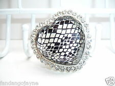 Large Diamante heart  effect Ring   - Costume Jewellery Rings